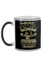Machinist Shirt My Craft Allows to Build Anything Color Changing Mug color-changing-left