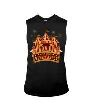 Dad Of The Birthday Ringmaster Kids Circus Party Sleeveless Tee thumbnail