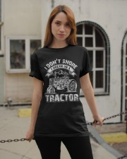 Vintage I Don't Snore I Dream I'm a Tractor Classic T-Shirt apparel-classic-tshirt-lifestyle-19
