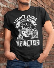 Vintage I Don't Snore I Dream I'm a Tractor Classic T-Shirt apparel-classic-tshirt-lifestyle-26