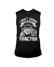 Vintage I Don't Snore I Dream I'm a Tractor Sleeveless Tee thumbnail