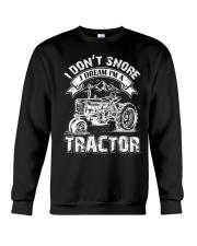 Vintage I Don't Snore I Dream I'm a Tractor Crewneck Sweatshirt thumbnail