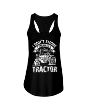 Vintage I Don't Snore I Dream I'm a Tractor Ladies Flowy Tank thumbnail