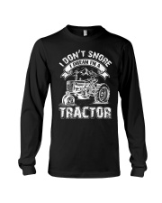 Vintage I Don't Snore I Dream I'm a Tractor Long Sleeve Tee thumbnail