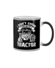 Vintage I Don't Snore I Dream I'm a Tractor Color Changing Mug thumbnail