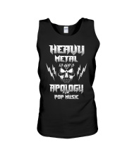 Heavy Metal Is God's Apology For Pop Music Gift Unisex Tank thumbnail