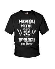 Heavy Metal Is God's Apology For Pop Music Gift Youth T-Shirt thumbnail