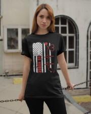 American Flag Nurse Patriotic 4th of July Nurses Classic T-Shirt apparel-classic-tshirt-lifestyle-19