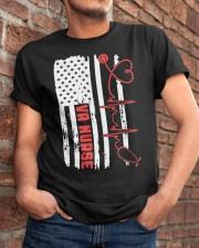 American Flag Nurse Patriotic 4th of July Nurses Classic T-Shirt apparel-classic-tshirt-lifestyle-26