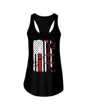 American Flag Nurse Patriotic 4th of July Nurses Ladies Flowy Tank thumbnail