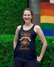 You Put My Meat in Your Mouth Going to Swallow Ladies Flowy Tank lifestyle-bellaflowy-tank-front-2