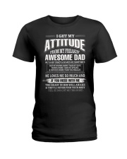 I Love God Some of His Children Get On My Nerves Ladies T-Shirt thumbnail