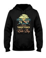 Vintage It's A Throat Punch Kinda Day Retro Hooded Sweatshirt thumbnail