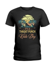 Vintage It's A Throat Punch Kinda Day Retro Ladies T-Shirt thumbnail