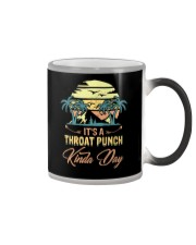 Vintage It's A Throat Punch Kinda Day Retro Color Changing Mug thumbnail
