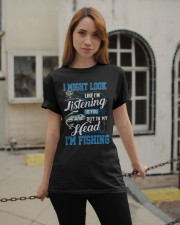 I Might Look Like I'm Listening to you Classic T-Shirt apparel-classic-tshirt-lifestyle-19