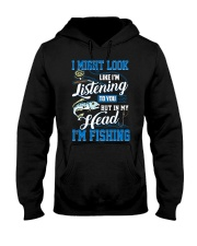 I Might Look Like I'm Listening to you Hooded Sweatshirt thumbnail
