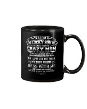 Lucky Son Have A Crazy Mom I'm Proud Of It Family Mug thumbnail
