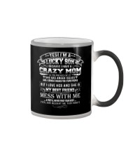 Lucky Son Have A Crazy Mom I'm Proud Of It Family Color Changing Mug thumbnail
