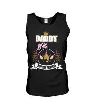 Daddy Of The Birthday Princess Floral Unicorn Unisex Tank thumbnail