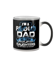 I'm Proud Dad Of Two Freaking Awesome Daughters  Color Changing Mug thumbnail