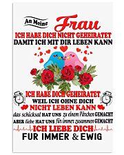 AN MEINE FRAU - FUR IMMER UND EWIG 11x17 Poster thumbnail