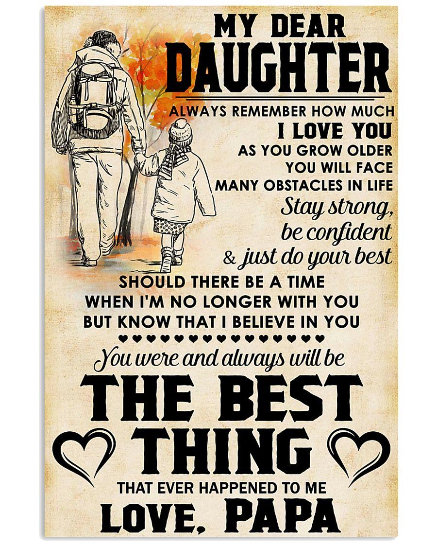 MY DEAR DAUGHTER - LOVE PAPA 11x17 Poster