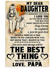 MY DEAR DAUGHTER - LOVE PAPA 11x17 Poster front