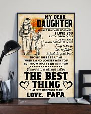 MY DEAR DAUGHTER - LOVE PAPA 11x17 Poster lifestyle-poster-2