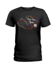Colorful Smoke Heart Stethoscope Med-Surg Nurse Ladies T-Shirt thumbnail