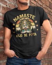 Namaste Hijo De Puta - Vintage Hippies Yoga Lover Classic T-Shirt apparel-classic-tshirt-lifestyle-26