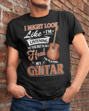 I Might Look Like I'm Listening to Young Guitar Classic T-Shirt apparel-classic-tshirt-lifestyle-26