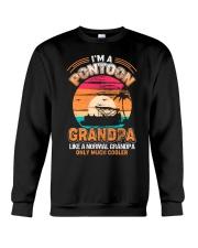 Mens Pontoon Grandpa Much Cooler Normal Crewneck Sweatshirt thumbnail