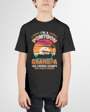 Mens Pontoon Grandpa Much Cooler Normal Youth T-Shirt garment-youth-tshirt-front-01