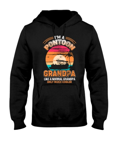 Mens Pontoon Grandpa Much Cooler Normal