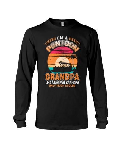 Mens Pontoon Grandpa Much Cooler Normal
