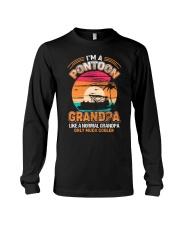 Mens Pontoon Grandpa Much Cooler Normal Long Sleeve Tee thumbnail