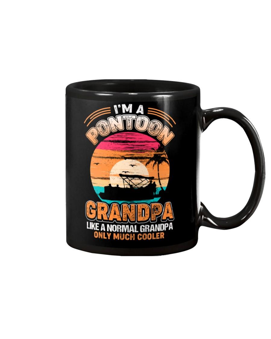 Mens Pontoon Grandpa Much Cooler Normal Mug