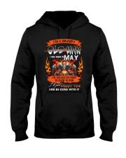 A Grumpy Old Man I Was Born In May I'm Old Biker Hooded Sweatshirt thumbnail
