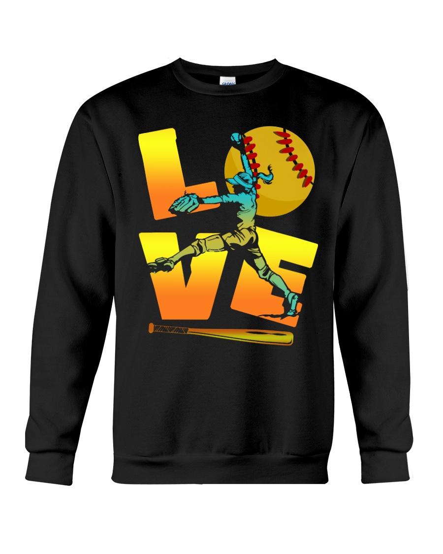Cool LOVE Softball Tee Softball Lovers Girls Women Crewneck Sweatshirt