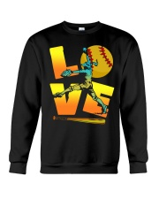 Cool LOVE Softball Tee Softball Lovers Girls Women Crewneck Sweatshirt front