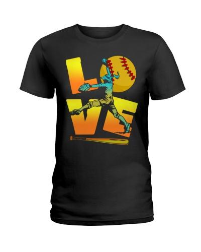 Cool LOVE Softball Tee Softball Lovers Girls Women