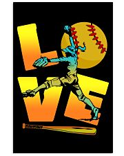 Cool LOVE Softball Tee Softball Lovers Girls Women 24x36 Poster front
