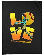 "Cool LOVE Softball Tee Softball Lovers Girls Women Large Fleece Blanket - 60"" x 80"" front"