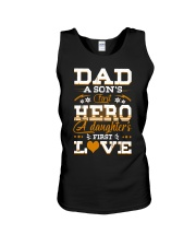 Dad Son's First Hero Daughter's First Love  Unisex Tank tile