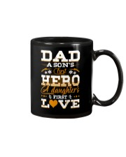 Dad Son's First Hero Daughter's First Love  Mug tile