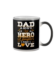 Dad Son's First Hero Daughter's First Love  Color Changing Mug tile