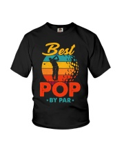 Best Pop By Par Golf Lover For Dad Youth T-Shirt thumbnail