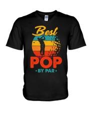 Best Pop By Par Golf Lover For Dad V-Neck T-Shirt thumbnail