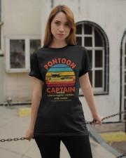 Best Funny Pontoon Captain Definition Pontoon Boat Classic T-Shirt apparel-classic-tshirt-lifestyle-19